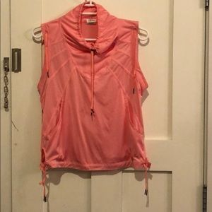 Adidas Pink Sleeveless Pullover  Shell. Size M